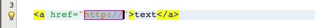 Insert anchor zen-coding NetBeans example