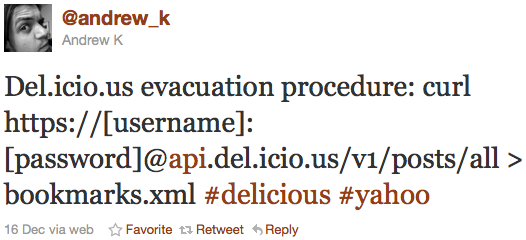 @ andrew_k's del.icio.us evacuation procedure