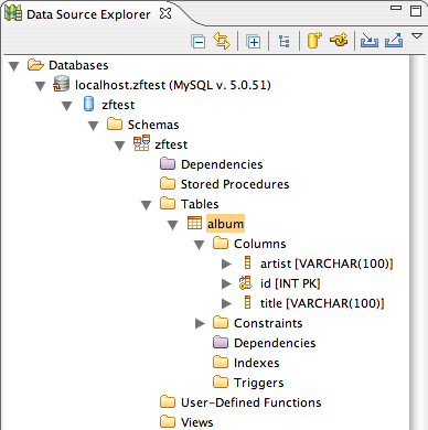 Data Source Explorer
