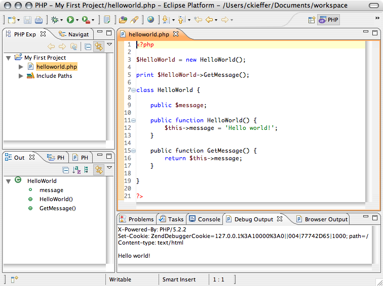 Using eclipse ide for php development youtube.