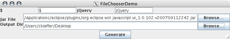 jQueryWTP file patch in X11